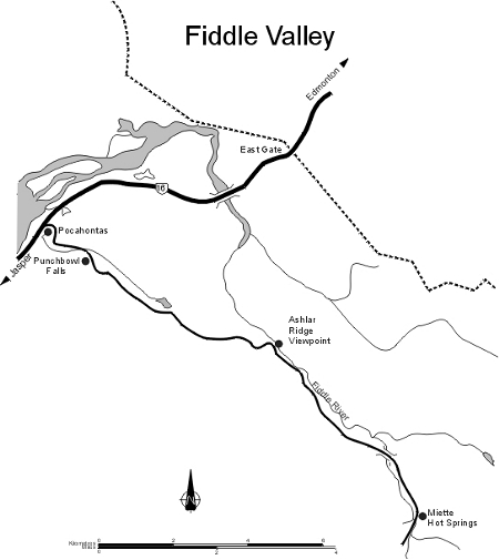 Map of the Fiddle Valley