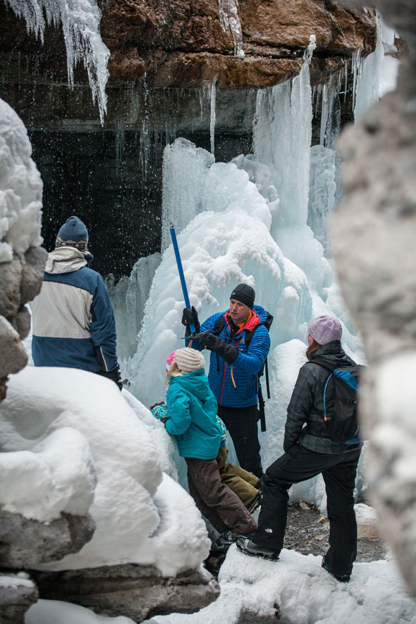 A guided icewalk in Jasper is one of the park's best signature experiences