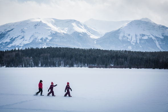 Snowshoeing is a fast-growing activity in Jasper National Park