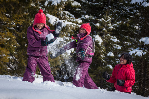 Snowfights are available for all park visitors to enjoy