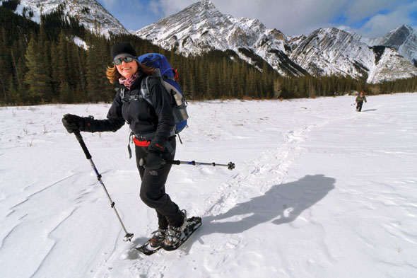 Snowshoeing Summit Lakes