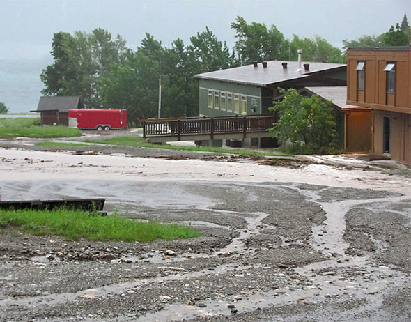 Flooding at Parks Canada operations buildings