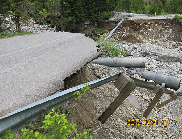 Large washout, Site 6
