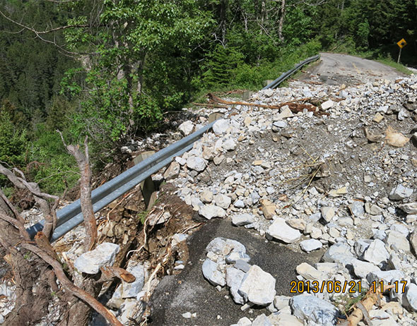 Debris and washout, Site 5