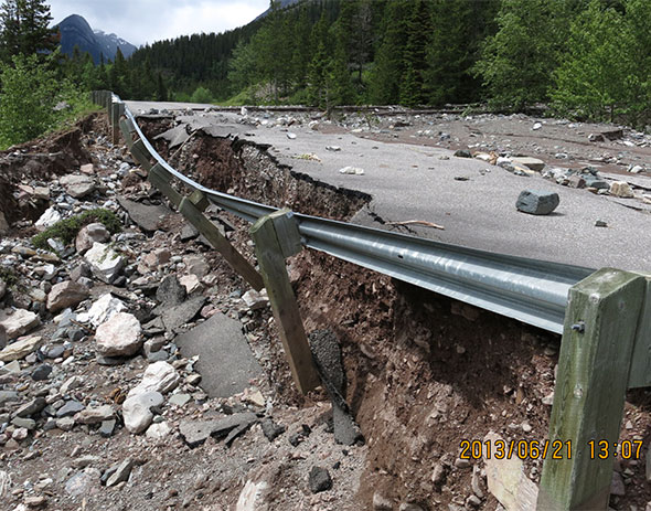 Washout at Lineham Creek, Site 8