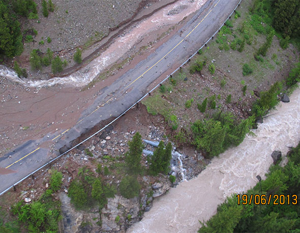 Aerial view of Ruby Creek, Site 7