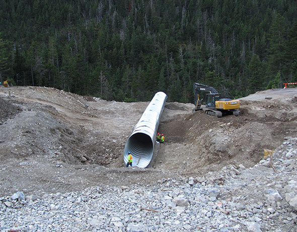 Culvert installation, Site 6
