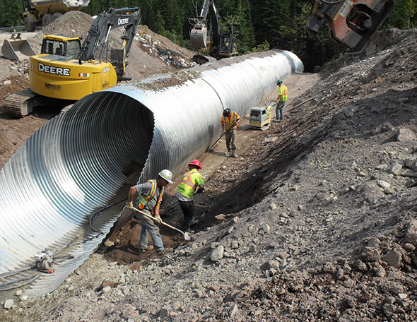 Culvert installation, Site 7