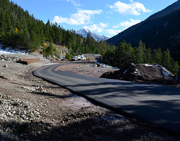 Newly paved section, Site 6