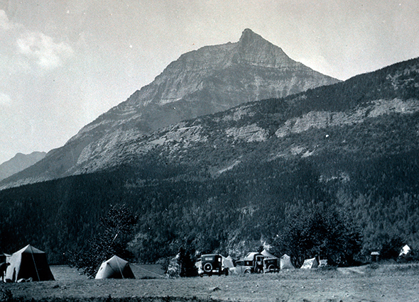 Camping in Waterton, 1925