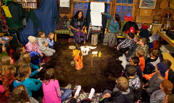 September: Kids partake in the Blackfoot Program at the ESI camp