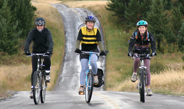 October: Kate, Lauren and Cheryl enjoy the 2nd Annual Ride the Red Rock Parkway