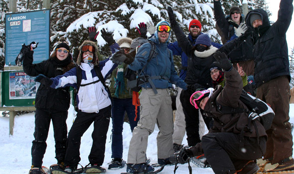 February: Snowshoers 'Hurray' at the Winterfest