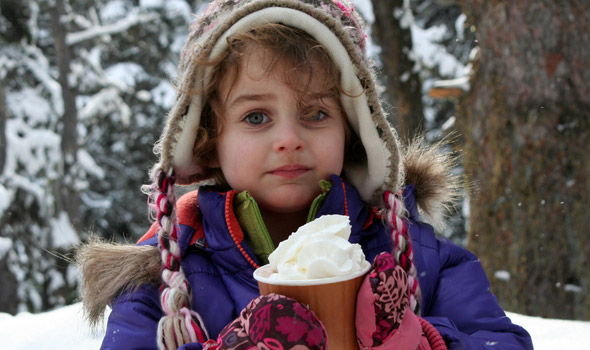 February: Isabel Alexander enjoys some Winterfest hot chocolate