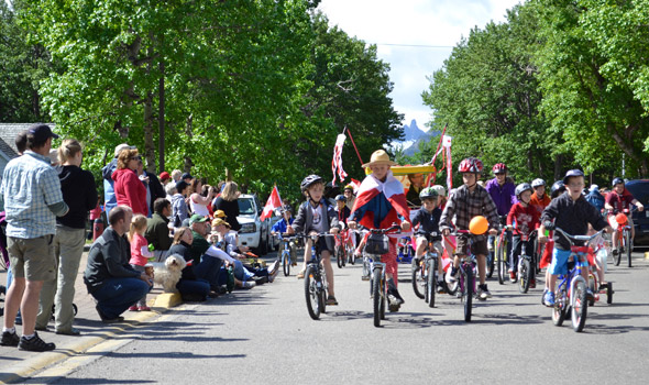 July: Canada Day bike parade
