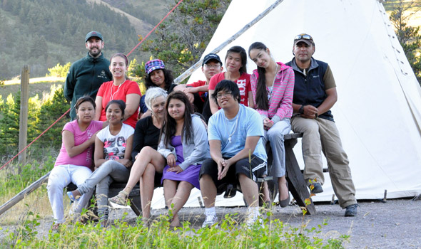 July: Parks Canada partnered with Outward Bound Canada to welcome a group of teens new to Canada to Waterton