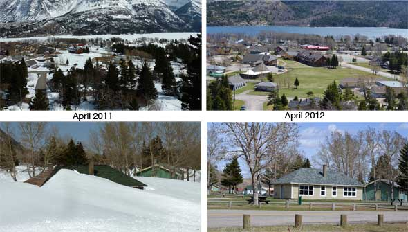 What a difference a year makes in Waterton!