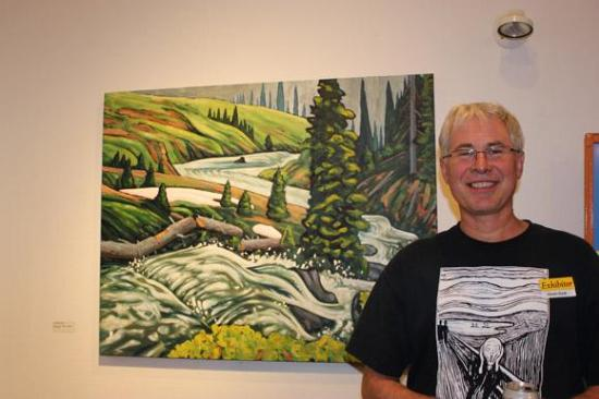 Glenn Clark and his work 'On the Drop Off, Schuss Lake'