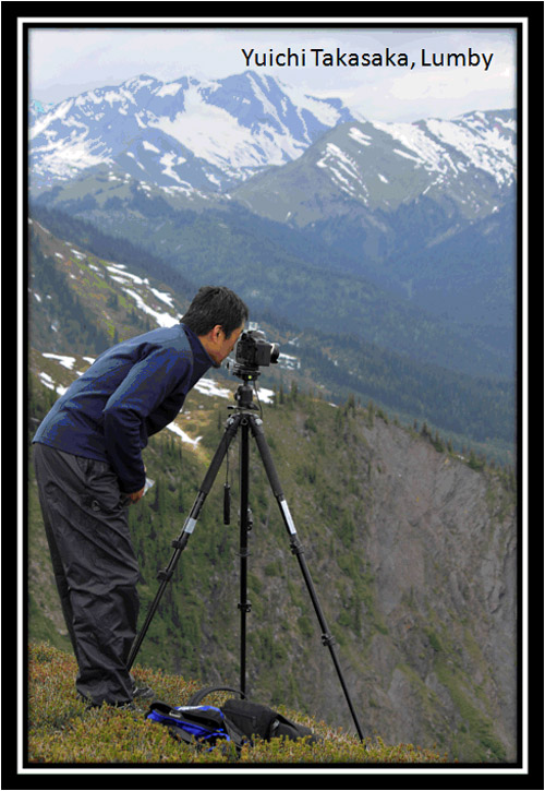 Lumby, BC photographer and videographer Yuichi Takasaka on Mount Fidelity