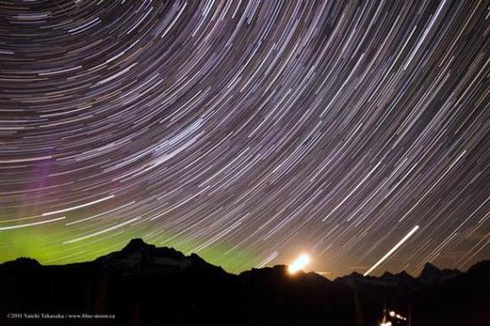 'Star Trails over Glacier NP' by Yuichi Takasaka