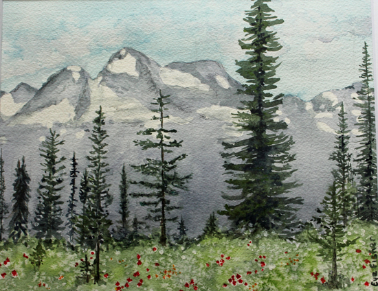 """Mount Begbie from Mount Revelstoke"" by Eve Fisher, 2013"