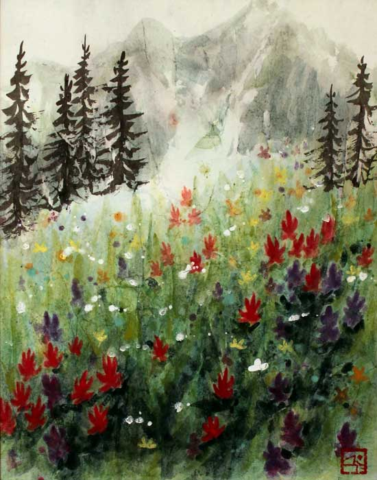 """Mount Revelstoke Meadow"" by Chloe Kim, 2013"