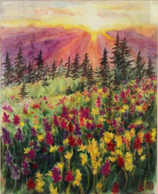 """Light on the Meadow"" by Chloe Kim, 2013"