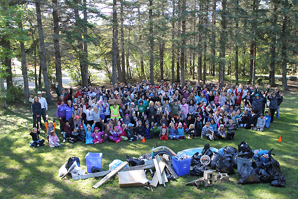 Clear Lake Cleanup - Team Photo