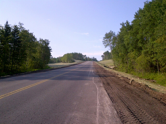 Work on the Km 49 section of Highway 10 is now complete.