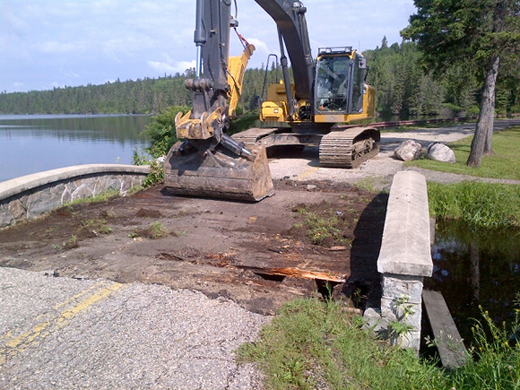 Work has begun on the restoration of the Wishing Well bridge.