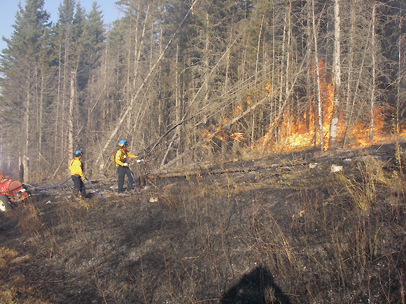 Prescribed burning in the Arrowhead burn unit using a torch