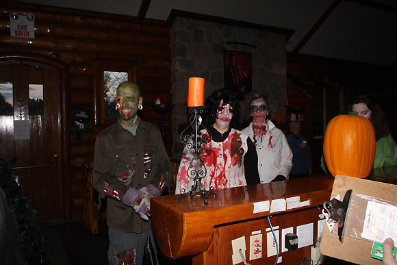 Ghouls in Visitor Centre