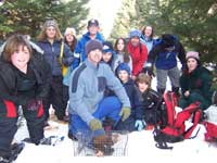 A group of school children discover a NL marten as part of a field trip to Terra Nova National Park