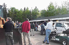 Park employees gather for the annual Park Clean-Up Day.