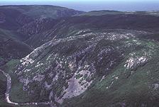 The MacKenzie valley is a good example of the rugged nature of northern Cape Breton.