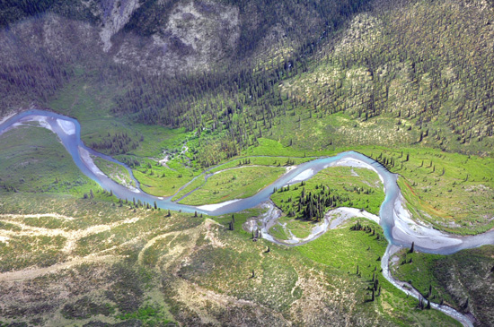 Main tributary of the South Nahanni River