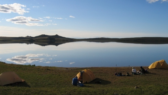 Base camp at One Island lake soothes the mind