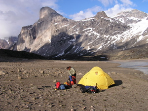 Camping in Akshayuk Pass
