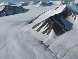 Glaciers, mountains and cirques, Bylot Island