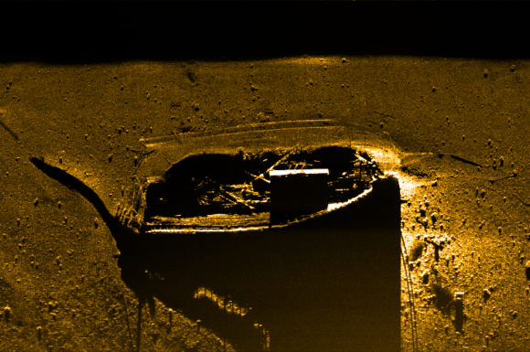 Side scan sonar image of the Arabia