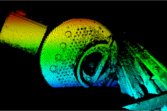3D laser mapped image of the Alice G. Boiler