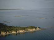 Aerial view of Grosse île au Marteau