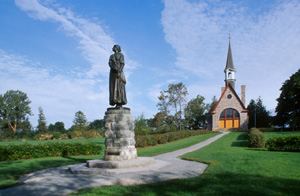 Statue of Evangeline  at Grand-Pré National Historic Site of Canada  (N.S.)