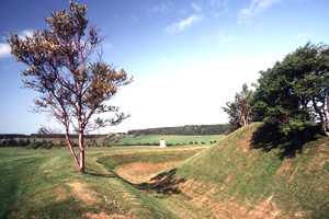 Earthworks of former British and French forts at Port-la-Joye–Fort Amherst National Historic Site of Canada (P.E.I.)