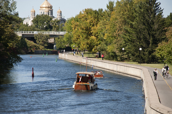 Boaters on the Rideau Canal