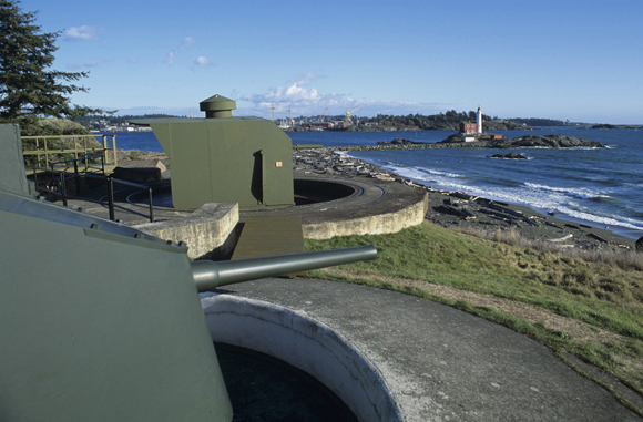 Belmont Battery Gun Emplacement at Fort Rodd Hill
