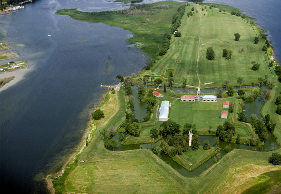 Bird's-eye view of Fort Lennox