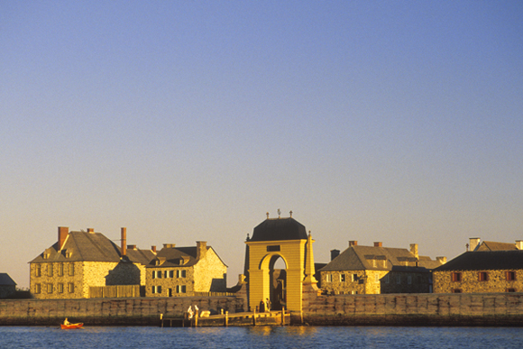 Panoramic view of the Fortress of Louisbourg