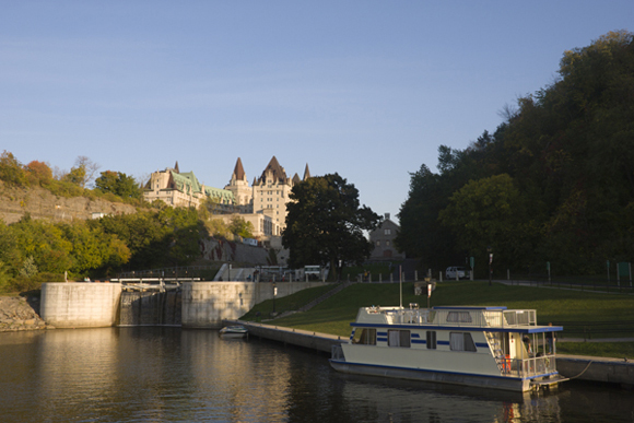 Rideau Canal and the Château Laurier