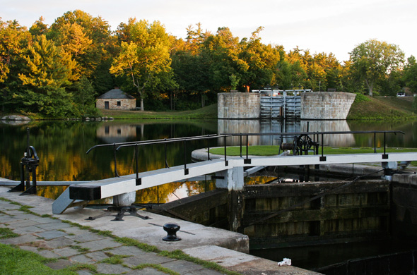 Jones Falls Lock Station, Rideau Canal World Heritage site.